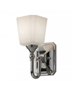 Feiss Concord 1 Light Bathroom Wall Light In Polished Chrome Finish With Opal Glass Shade (IP44)