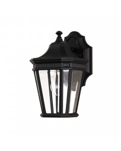 Feiss Cotswold Lane 1 Light Outdoor Small Wall Lantern In Black Finish