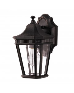 Feiss Cotswold Lane 1 Light Outdoor Small Wall Lantern In Grecian Bronze Finish