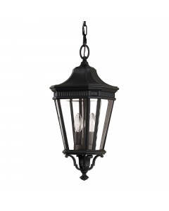 Feiss Cotswold Lane 2 Light Outdoor Medium Chain Lantern In Black Finish