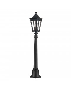 Feiss Cotswold Lane 2 Light Outdoor Medium Pillar In Black Finish