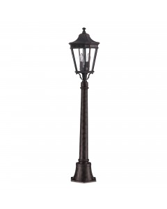 Feiss Cotswold Lane 2 Light Outdoor Medium Pillar In Grecian Bronze Finish