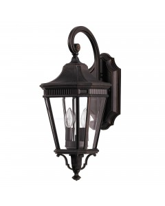Feiss Cotswold Lane 2 Light Outdoor Medium Wall Lantern In Grecian Bronze Finish