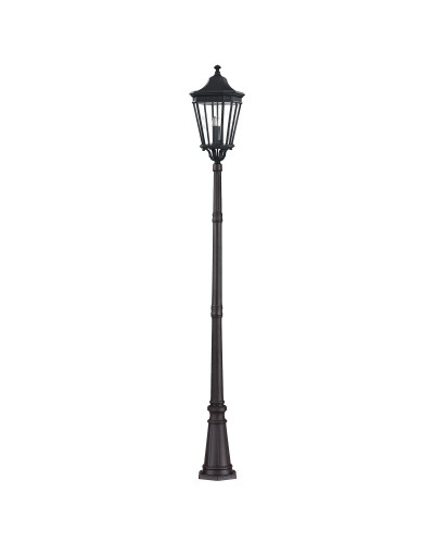 Feiss Cotswold Lane 3 Light Outdoor Large Post In Black Finish