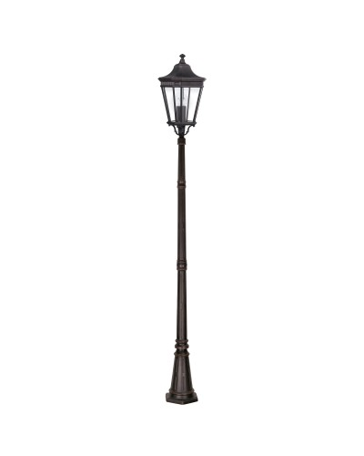 Feiss Cotswold Lane 3 Light Outdoor Large Post In Grecian Bronze Finish