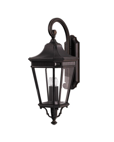 Feiss Cotswold Lane 3 Light Outdoor Large Wall Lantern In Grecian Bronze Finish