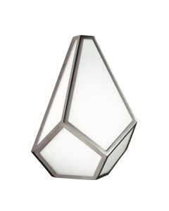 Feiss Diamond 1 Light Wall Light In Polished Nickel Finish