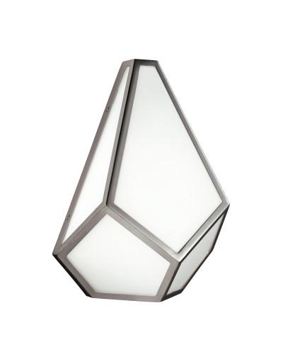 Feiss Diamond 1 Light Wall Light In Polished Nickel Finish