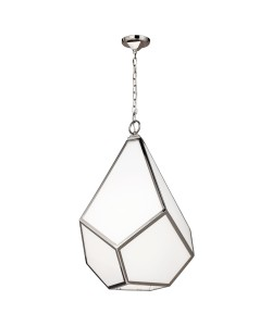 Elstead Lighting Feiss Diamond 4 Light Large Pendant In Polished Nickel Finish