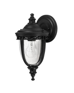 Feiss English Bridle 1 Light Outdoor Small Wall Lantern In Black Finish