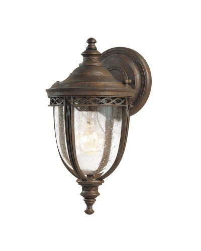Feiss English Bridle 1 Light Outdoor Small Wall Lantern In British Bronze Finish