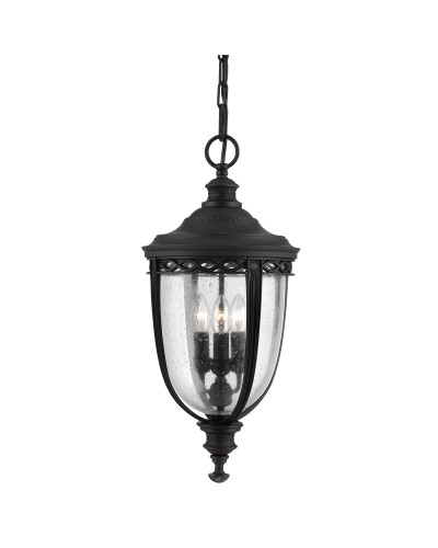 Feiss English Bridle 3 Light Outdoor Large Chain Lantern In Black Finish