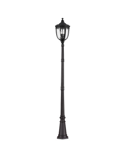 Feiss English Bridle 3 Light Outdoor Large Lamp Post In Black Finish