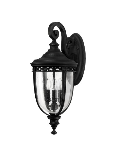 Feiss English Bridle 3 Light Outdoor Large Wall Lantern In Black Finish