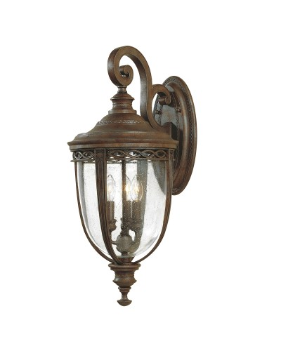 Feiss English Bridle 3 Light Outdoor Large Wall Lantern In British Bronze Finish