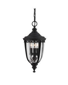 Feiss English Bridle 3 Light Outdoor Medium Chain Lantern In Black Finish