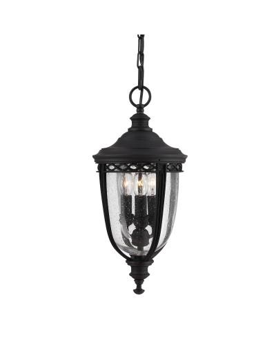 Feiss English Bridle 3 Light Outdoor Medium Chain Lantern In Black Finish