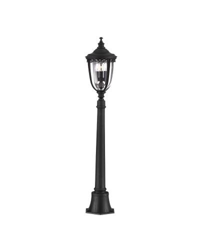 Feiss English Bridle 3 Light Outdoor Medium Pillar In Black Finish