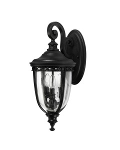 Feiss English Bridle 3 Light Outdoor Medium Wall Lantern In Black Finish