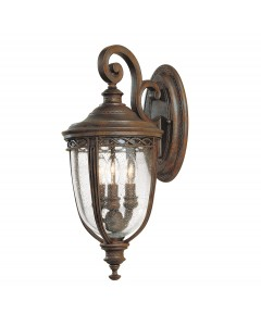 Feiss English Bridle 3 Light Outdoor Medium Wall Lantern In British Bronze Finish