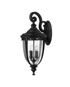 Feiss English Bridle 4 Light Outdoor Extra Large Wall Lantern In Black Finish