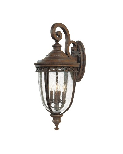Feiss English Bridle 4 Light Outdoor Extra Large Wall Lantern In British Bronze Finish