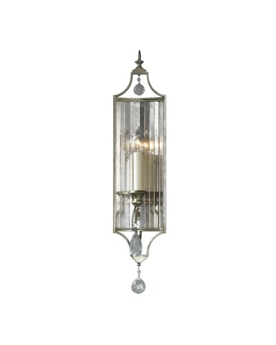 Feiss Gianna 1 Light Crystal Wall Light In Gilded Silver Finish