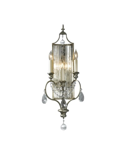 Feiss Gianna 3 Light Crystal Wall Light In Gilded Silver Finish