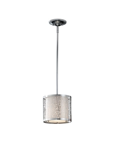 Feiss Joplin 1 Light Mini Pendant In Chrome Finish With Height Adjustable Rods