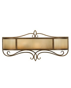 Feiss Justine 2 Light Large Vanity Wall Light In Astral Bronze Finish