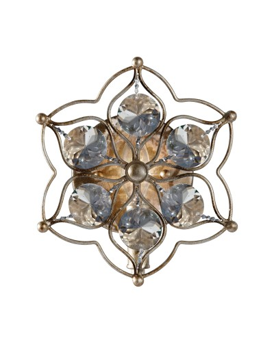 Feiss Leila 1 Light Crystal Wall Light In A Burnished Silver Finish