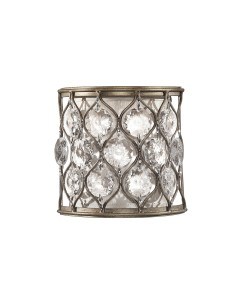 Feiss Lucia 1 Light Crystal Wall Light In A Burnished Silver Finish