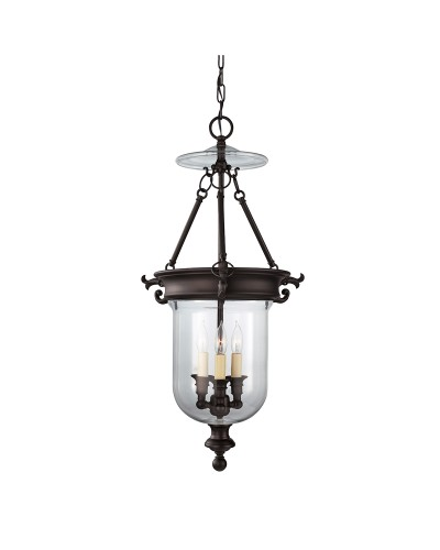 Feiss Luminary 3 Light Pendant In Oil Rubbed Bronze Finish