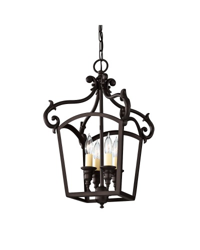 Feiss Luminary 4 Light Pendant In Oil Rubbed Bronze Finish
