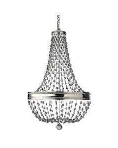 Feiss Malia 8 Light Crystal Pendant Chandelier In A Polished Nickel Finish