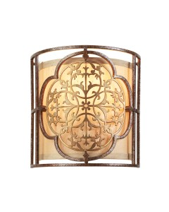 Feiss Marcella 1 Light Wall Light In Bronze Finish With Beige Fabric Shade