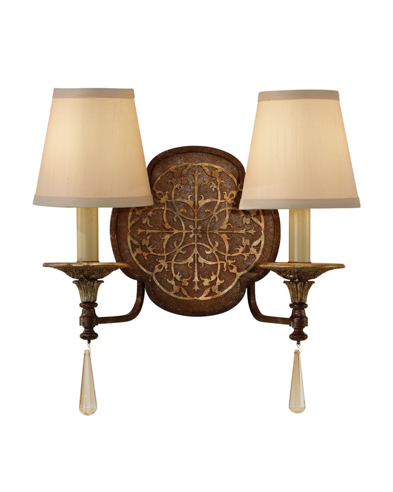 Feiss marcella 2 light wall light in bronze finish with beige fabric feiss marcella 2 light wall light in bronze finish with beige fabric shades aloadofball Gallery