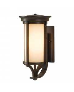 Feiss Merrill 1 Light Outdoor Medium Wall Lantern In Heritage Bronze Finish
