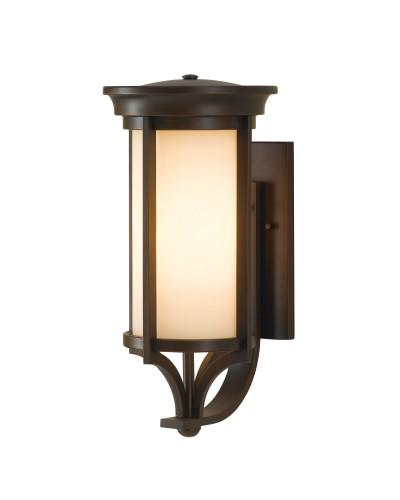 Feiss Merrill 1 Light Outdoor Medium Wall Lantern In Heritage Bronze Finish