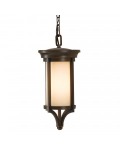 Feiss Merrill 1 Light Outdoor Small Chain Lantern In Heritage Bronze Finish