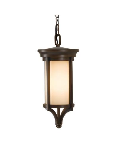 Feiss Merrill 1 Light Outdoor Small Chain Lantern In Heritage Bronze Finish