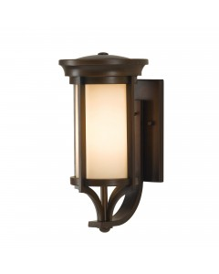 Feiss Merrill 1 Light Outdoor Small Wall Lantern In Heritage Bronze Finish