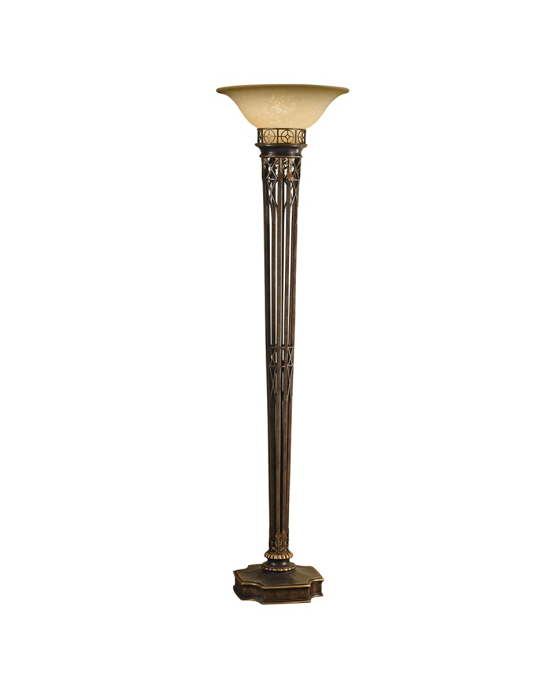 elstead lighting feiss opera 1 light torchiere floor lamp in firenze. Black Bedroom Furniture Sets. Home Design Ideas