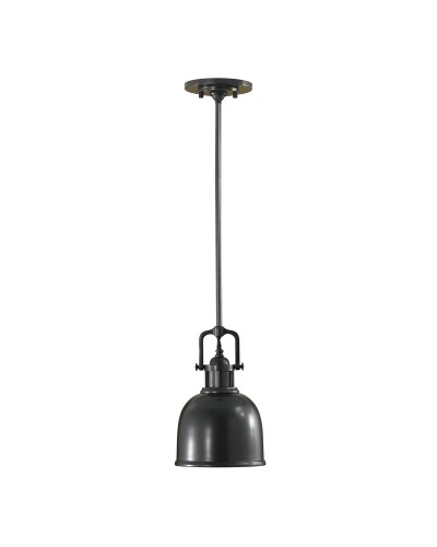 Feiss Parker Place 1 Light Mini Pendant In Dark Bronze Finish With 3 Height Adjustable Rods