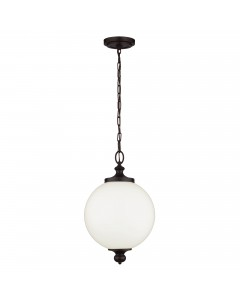 Feiss Parkman 1 Light Large Pendant In Oil Rubbed Bronze Finish