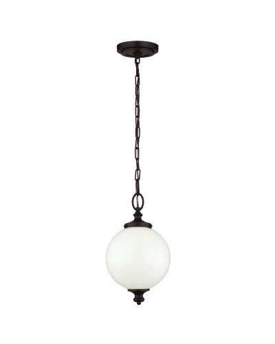 Feiss Parkman 1 Light Small Pendant In Oil Rubbed Bronze Finish