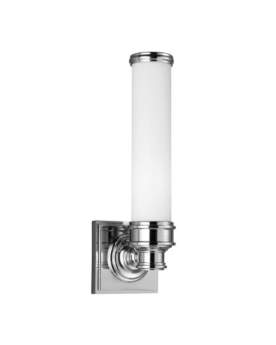 Feiss Payne 1 Light Bathroom Wall Light In Polished Chrome Finish With Opal Glass (IP44)