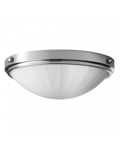 Feiss Perry 2 Light Bathroom Flush Mounted Ceiling Light In Polished Chrome Finish (IP44)