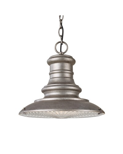 Feiss Redding Station 1 Light Outdoor Medium Chain Lantern In Tarnished Finish