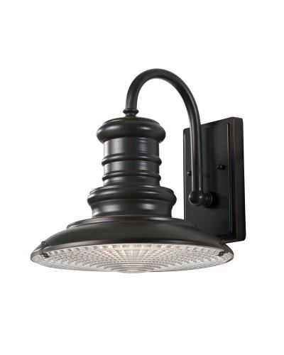 Feiss Redding Station 1 Light Outdoor Medium Wall Lantern In Restoration Bronze Finish